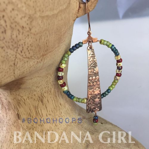 A new earring design  beaded hoops! Just love these!hellip