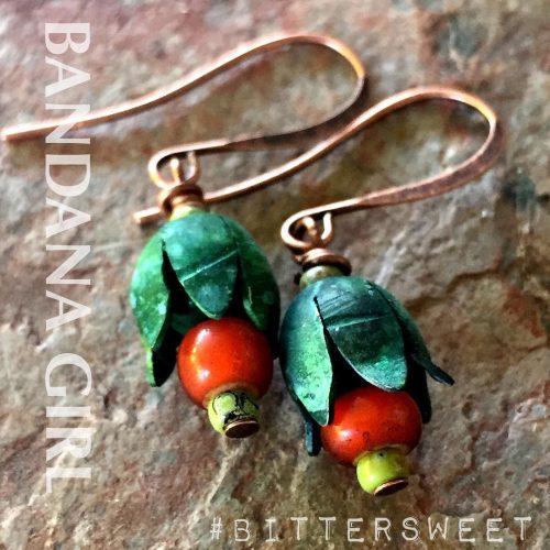 My new bittersweet falljewelry earrings leather boho shoulderdusters earrings patinahellip