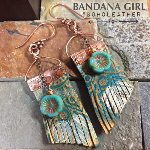 Copper and leather  Get Ready! summerscoming by bandanagirl boholeather