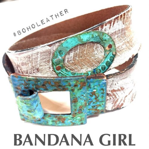 When patina meets leather ohlala handmade textured leather wrap cuffhellip