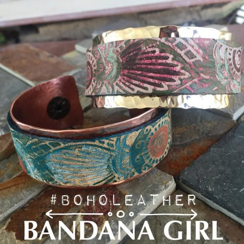 New design! boholeather copper and brass hammered cuff comingsoon leatherhellip