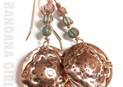 Boho Spring Drop Copper Earrings