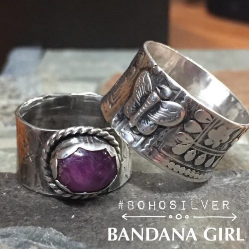 A couple new bohosilver handcrafted ring designs  A beautifulhellip
