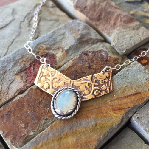 Going going gone a pretty little bronze silver opal handcraftedhellip