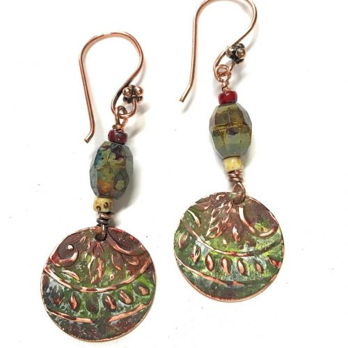 patina drop earrings So boho and earthy  all handcraftedhellip