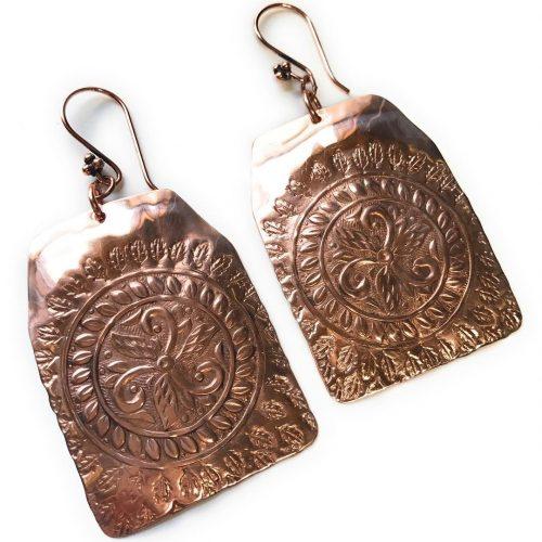 boho Maat goddess earrings by bandanagirl in solid copper hellip