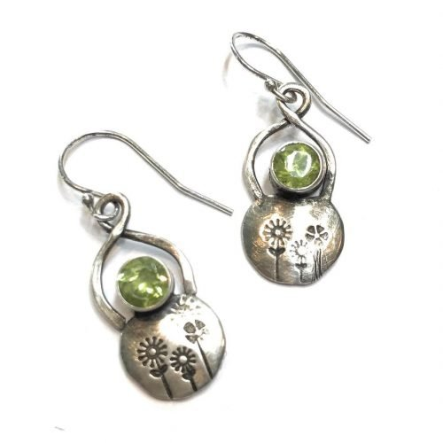 New sterlingsilver summerjewelry earrings silverjewelry original design by bandanagirl
