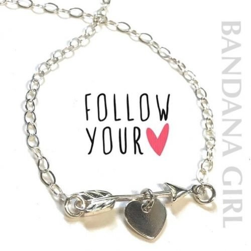 My sweet new inspirational arrow amp heart necklace followyourheart silverjewelryhellip