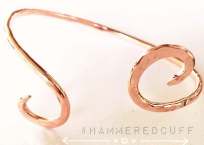 Copper Swirl Hammered Cuff