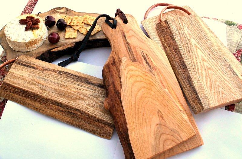 Large Hidden Hill Cutting Board Live Edge Oak With Copper