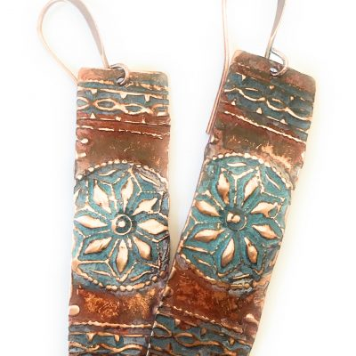 Patina Star Earrings